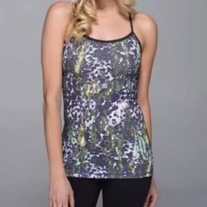 Lululemon Athletica Power Y Tank Floral Camo
